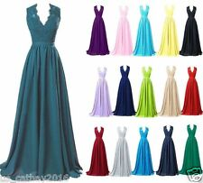 Chiffon Long Cocktail Dress Party Formal Evening Ball Prom Dresses Wedding Gown