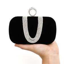 Bling Rhinestone Evening Party Dinner Bags Clutch Prom Crossbody Chain Wristlet