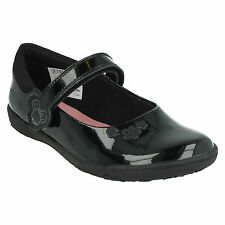 NIBBLESSAL GIRLS CLARKS BINKIES PATENT LEATHER MARY JANE RIPTAPE SCHOOL SHOES