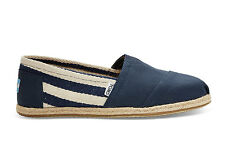 TOMS WOMENS CLASSICS NAVY STRIPE UNIVERSITY NEW SLIP-ON SHOES SIZE 6-9