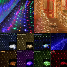 3Mx2M 200 LED Net Curtain String Fairy Lights Christmas Party Garden Outdoor New