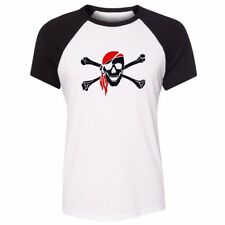 Funny Cartoon Pirate Womens Girls Shirt Casual T-Shirts Punk Style Tops Blouses