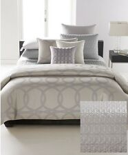 Hotel Collection Calligraphy Quilted Standard Pillow Sham in Silver