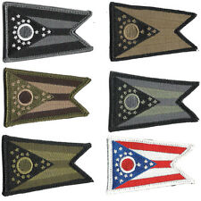 """Tactical Hook Fastener State Badge Patch Morale 2x3"""" Ohio OH Columbus"""