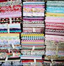 NEW PACK OF 6 FAT QUARTERS 100% COTTON FABRIC BUNDLES SEWING QUILTING PYO DESIGN