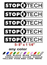 STOP TECH ***ANY COLOR*** STICKERS DECALS STOPTECH