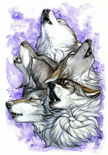 Modern Home Decor HD Prints art oil painting on canvas wall art Fantasy wolf w08