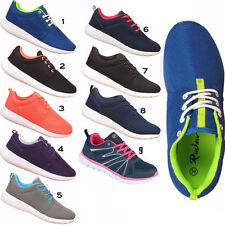 Womens Ladies Girls Sports Gym Mens Running Jogging Lace Up Trainers Shoes Sizes