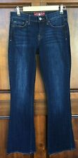 Lucky Brand Sofia Boot Distressed Dark Blue Stretch Jeans Sz 4 Waist 28 Tag 4/27