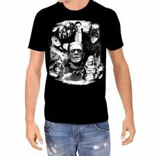 Universal Monsters Glow in the Dark Collage Licensed Horror Men's T-Shirt