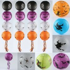 "12"" Paper Pumpkin Hanging Lantern Paper Lamp Halloween Party Fastival Prop Decor"