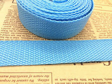 New Hot Width 25mm Length 5/10Yards Nylon Webbing Strapping Pick Colors