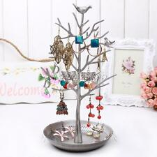 New Bird Tree Earrings Necklace Jewelry Holder Display Show Stand Rack