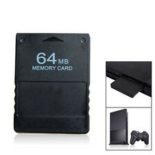 Durable 64MB 128MB Game Memory Card Black for Sony Playstation 2 PS2 NE