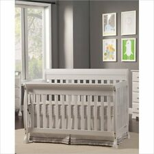 White Convertible Crib Wood Baby Cradle Toddler Rail Bed Nursery Changer Daybed