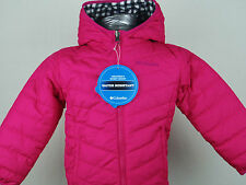 "New Girls ""Cloudy Rowdy"" Reversible Jacket Columbia Sportswear Hot Pink Size 3T"
