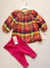 NEW WITH TAG RALPH LAUREN POLO BABY GIRL TWO PIECE SET SZ 24 MONTHS