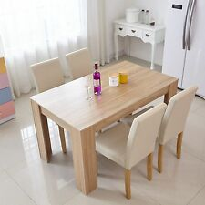 Dining Table and 2-6 Chairs Modern Dining Room Set Wood Colour Kitchen Furniture