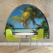 WALL MURAL Beach Tropical Island Window View XXL PHOTO WALLPAPER (2834DC)