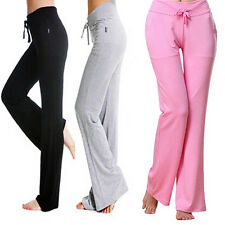 Womens Fashion Modal Comfortable Yoga Gym Sports Square Dance Long Pants Dulcet
