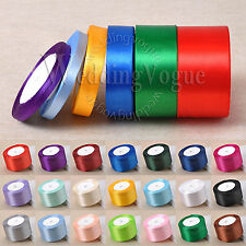 25yards 6mm to 50mm Width Satin Ribbon Roll Bow Wedding Party Craft Decoration