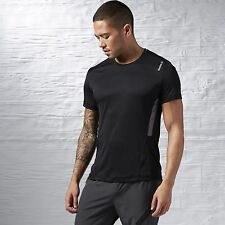 Reebok Workout Ready Tech Tee Slim Fit Black Size S AJ2897