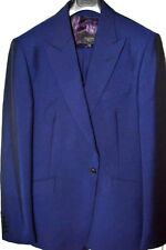 $1.7k NWT DUCHAMP 40 42 44 R BLUE 1 button 3 PIECE Peak lapel WOOL MOHAIR suit
