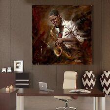 Huge Modern hand-painted Art Oil Painting Wall Decor canvas No framed-Musician