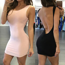 Sexy Women's Backless Bodycon Evening Party Cocktail Mini Pencil Dresses Popular