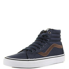 Mens Vans Sk8 Hi Cord and Plaid Dress Blue Classic Skate Trainers Shu Size