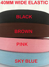 40MM WIDE Elastic Band Ribbon Stretch Tape Trim WoveNCraft Flexible Strap Sewing