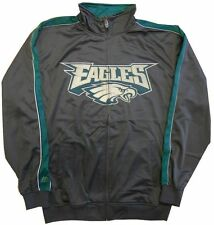 Philadelphia Eagles Men's Full Zip Tricot Track Jacket Charcoal Big & Tall Sizes