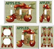 APPLES & BURLAP COUNTRY KITCHEN DECOR LIGHT SWITCH COVER PLATE OR OUTLET V893