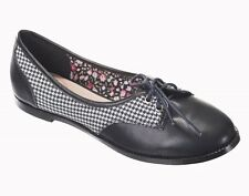 Banned 50s Dog Hounds Tooth VTG Retro Rockabilly Flat Pumps Ladies Swing Shoes