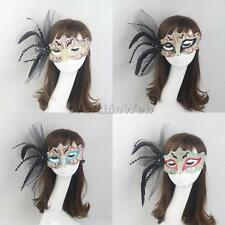 Women Venetian Feather Masquerade Eye Mask Party Fancy Dress Halloween Decor