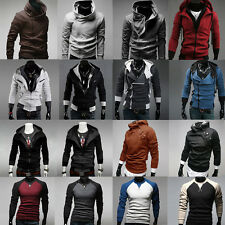 Various Mens Slim Fit Soft Top Designed Zipper Hoodies Jacket Coat Sweater Shirt