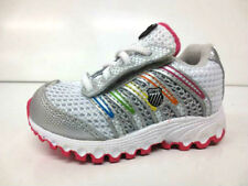 GIRLS K SWISS TRAINERS TUBES 22443894 WHITE/ SILVER/ MULTI