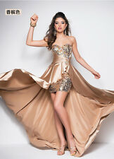2016 New sequins Long prom Dresses Evening Party dress Ball Gown Bridesmaids US