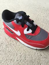 NIKE AIR MAX 90 (TD) TODDLER ATHLETIC SHOES 408110 602 RED/GRAY/WHITE BLACK sz 6