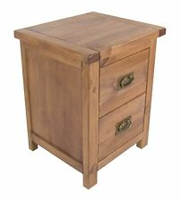 2 Drawer Lacquered Pine Bedside Table