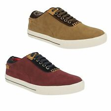 MENS LAMBRETTA ARABOUR LACE UP ROUND TOE SMART CASUAL TRAINERS SHOES