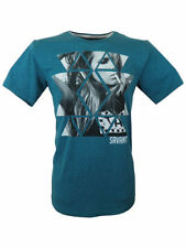 Mens BNWT Savant Taxi Branded Soft Cotton Tee T-Shirt Top in Teal Green