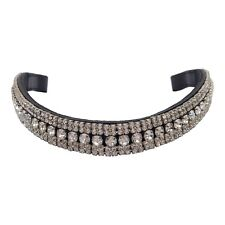 MEGA BLING BROWBAND - 5 ROWS CLEAR CRYSTALS - PONY COB FULL WB - FREE P&P!