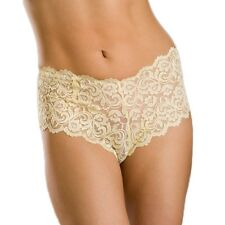 Womens Ladies Underwear Lingerie Lemon Yellow Floral Lace Boxer Boy Shorts