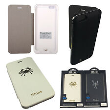 "iPhone 6 Plus 5.5"" Flip Case Cover External Backup Battery Rechargeable Charger"
