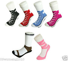 men women Silly Sock Sneaker Socks Cotton Converse Shoe Trainer Novelty Comfort