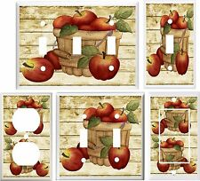 APPLES CRATE RUSTIC COUNTRY KITCHEN  LIGHT SWITCH COVER PLATE OR OUTLET V899