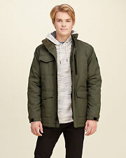 Abercrombie & Fitch - Hollister Mens Jacket Fleece Lined Jacket L XL Olive NWT