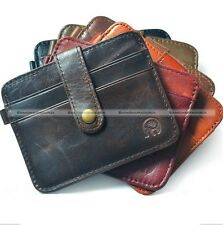 Fashion Men's Slim Leather Money Clip Wallet ID Credit Card Holder Case Purse S3