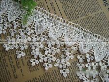 1 yard Embroidery Polyester Lace Edge Trim Wedding Ribbon DIY Sewing Craft S3